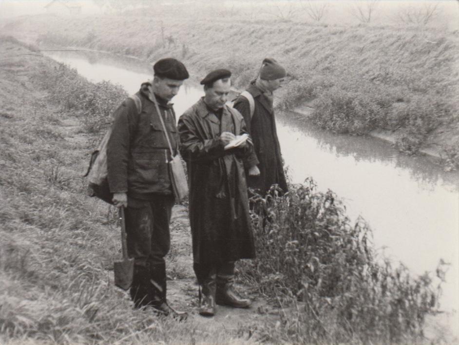 3. Jižní, Čechy, Novořecká Bašta. Zleva J. Květ, S. Hejný, K. Fiala