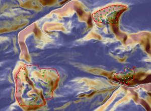 Projekce pozic trvalých ploch na digitálním svahové modelu